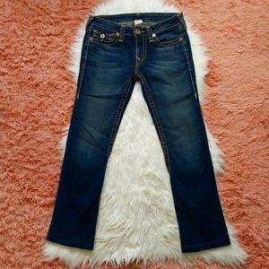 True Religion Jeans Dark Distressed Low Rise